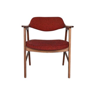Mid-Century Modern Walnut & Tweed Chair