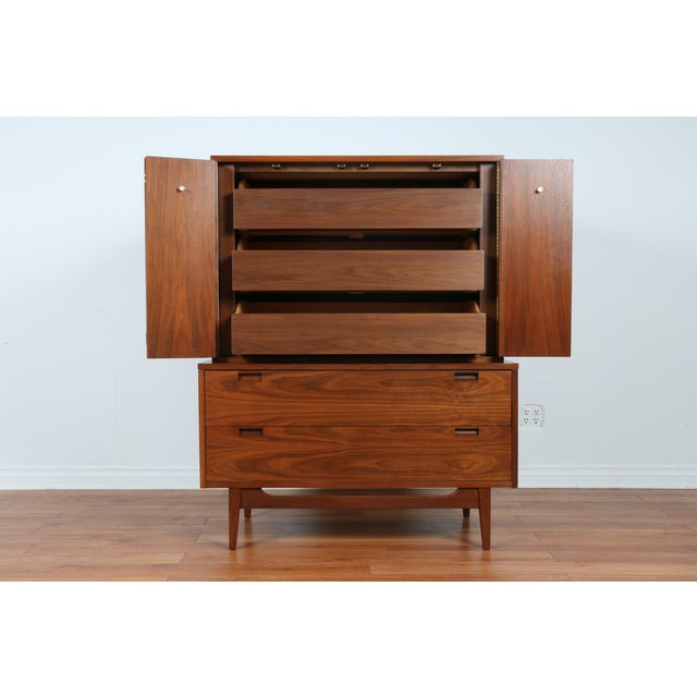 Highboy Dresser by American of Martinsville - Image 3 of 9