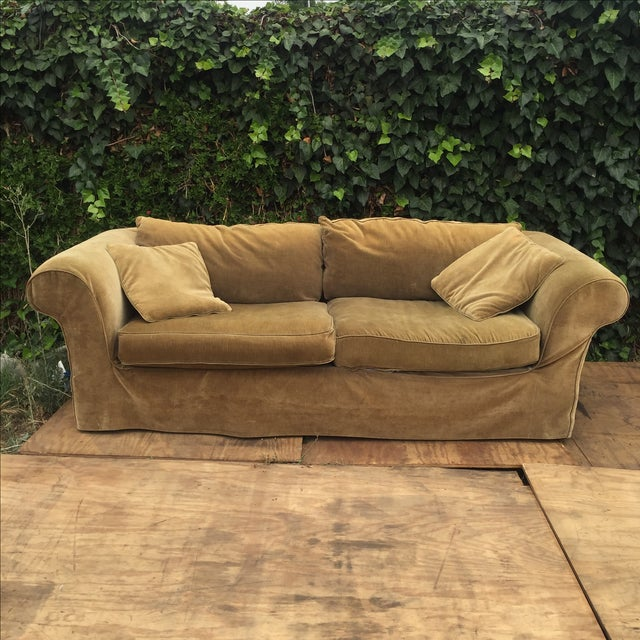 Mitchell Gold Slip Cover Sofa - Image 2 of 8
