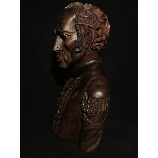 Circa 1970 Carved Wood Statue - Image 10 of 11