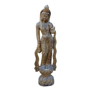 Chinese Stone Kwan Yin Tara Bodhisattva Statue