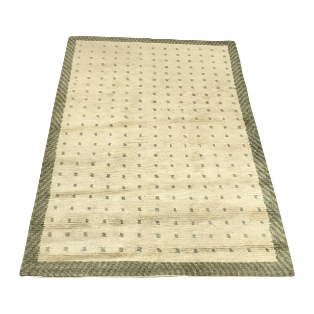 "Wool Cotton Rug From Nepal - 5'6"" X 3'7"" - Image 1 of 5"