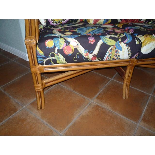 Image of Tommy Bahama Style Bentwood Rattan Settee
