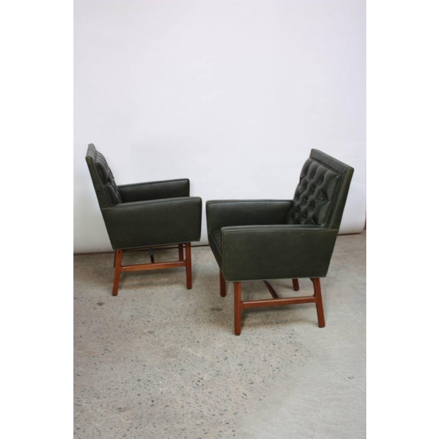Pair of Milo Baughman for Thayer Coggin Walnut Armchairs - Image 5 of 9