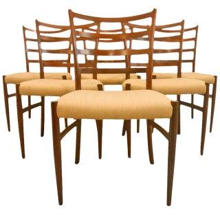 Danish Mid-Century Modern Ladderback Dining Chairs - Set of 6