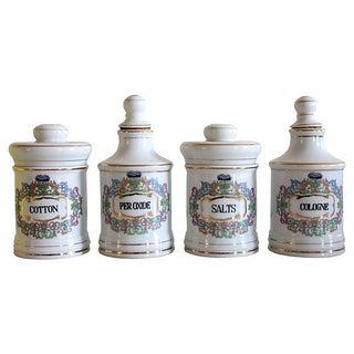 Porcelain Apothecary Jar Set