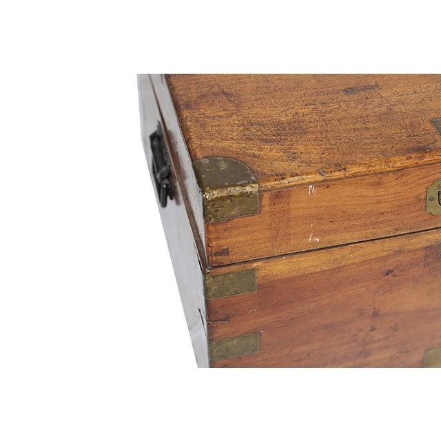 Early 19th Century Walnut and Brass Trunk - Image 4 of 10