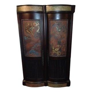 Custom Leather Painted Designer Media Cabinet
