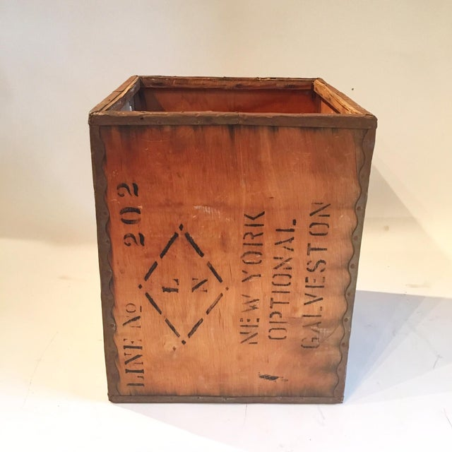 Vintage New York Shipping Crate - Image 2 of 5
