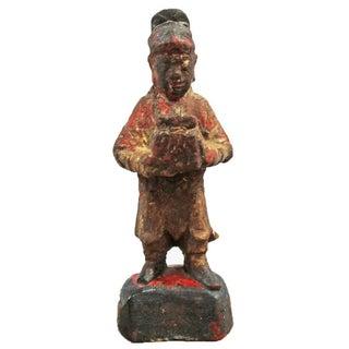 Antique Wood Carved Monk