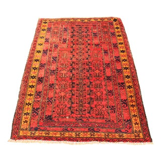 "Vintage Persian Malayer Prayer Rug - 3'3"" X 4'9"""