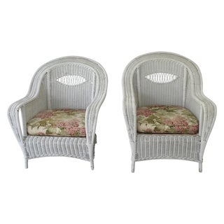 Antique Wicker Lounge Chairs - A Pair