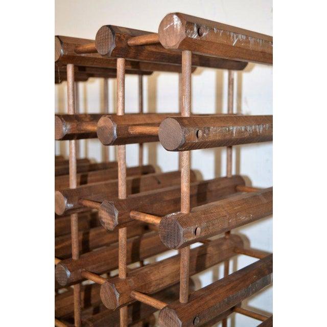 Monumental Modernist Wood Wine Rack - Image 4 of 5