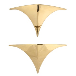 """Pair of Deco-revival """"Chan"""" sconces by Erik Stanton Chan for Boyd Lighting Co."""