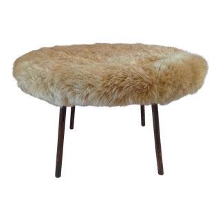 White Sheepskin Coffee Table