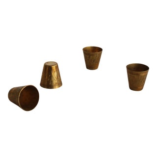 Vintage French Brass Cups - Set of 4