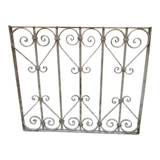 Antique Victorian Iron Salvage Fence