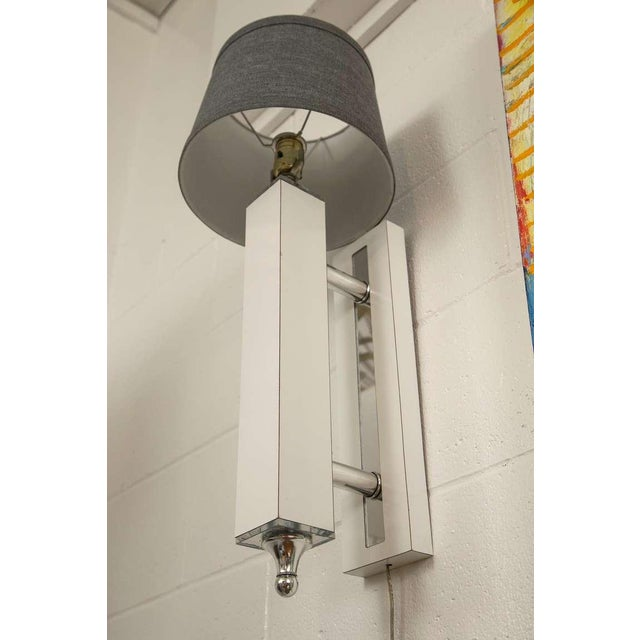 Pair of Midcentury Wall Sconce with Lucite Accents - Image 5 of 9