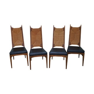 Thomasville High Back Danish Style Dining Chairs