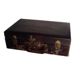 Vintage Faux Crocodile Suitcase / Briefcase