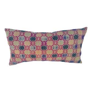Silk Embroidered Wedding Quilt Pillow