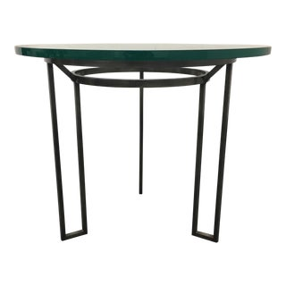 Iron Based Glass Top Side Table