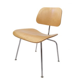 Eames DCM Bent Plywood & Steel Chair for Herman Miller