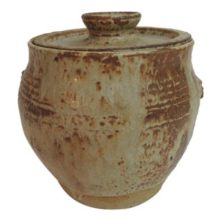 Vintage Mid-Century Art Pottery Lidded Vessel