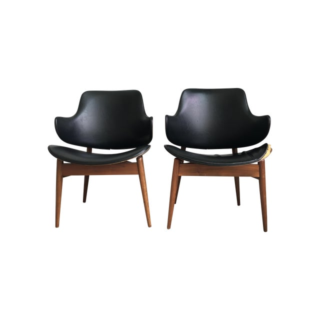 Image of Vintage Mid-Century Kodawood Clam Shell Chairs