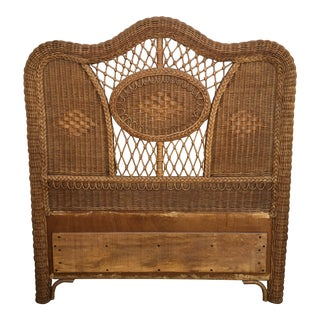 Rattan Hollywood Regency Twin Headboard