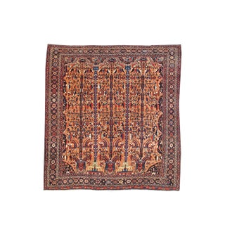 Unique Square-Sized Bakhtiari Carpet