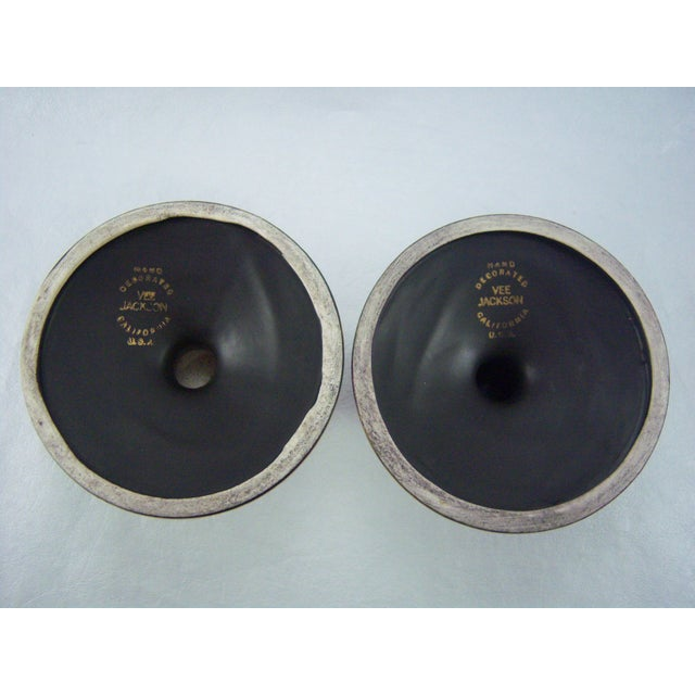 Vee Jackson Candle Holders - A Pair - Image 5 of 6