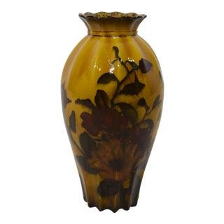 "Rare George Jones & Sons ""Madras Ware"" Decorated Pottery Vase"