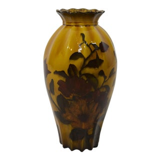 "Rare George Jones & Sons ""Madras Ware"" Decorated Pottery Vase"