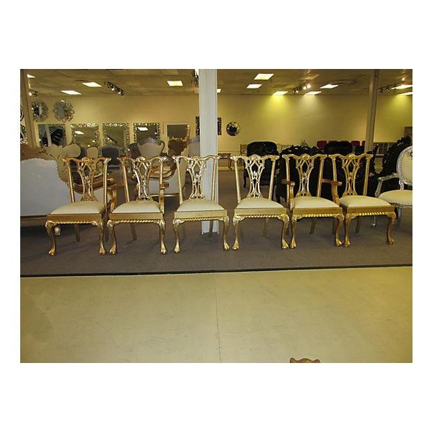 Gold Dinning Chairs - Set of 6 - Image 5 of 6