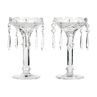 1960s Crystal Glass Lustres - a Pair