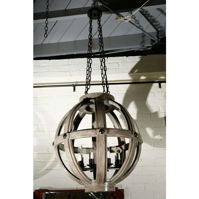 Customizable Paul Marra Large Carved Sphere Chandelier - Image 2 of 8