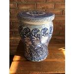 Image of Swirled Blue & White Porcelain Garden Seat