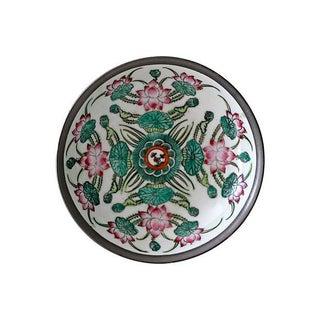 Encased Porcelain Floral Dish