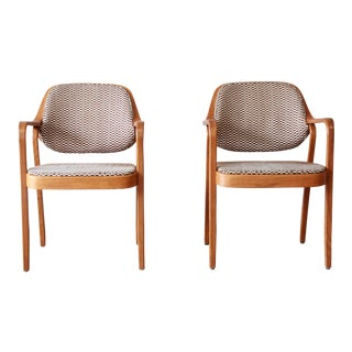 Don Pettit for Knoll International Bentwood Armchairs - A Pair