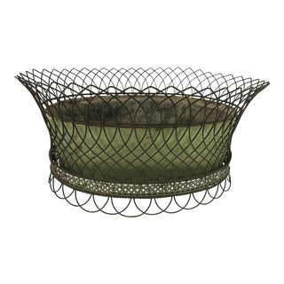 Antique French Wirework Planter