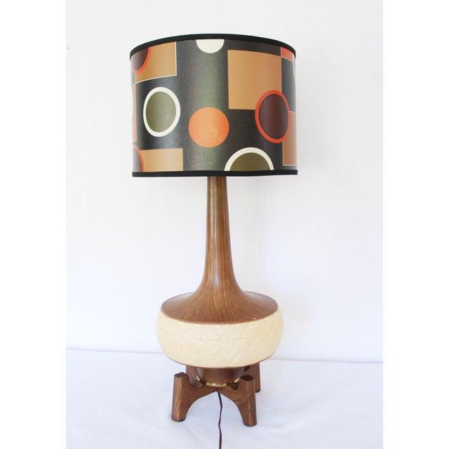 Image of Mid Century Modern Danish Lamp & Shade