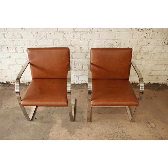 Mies Van Der Rohe Leather Brno Chairs A Pair Chairish