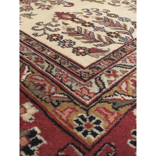 """Hand-Knotted Jamshidpour Indian Rug - 8' X 9'11"""" - Image 2 of 2"""