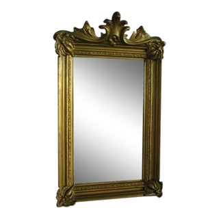 Victorian Style Carved Gilt Wood Wall or Vanity Mirror
