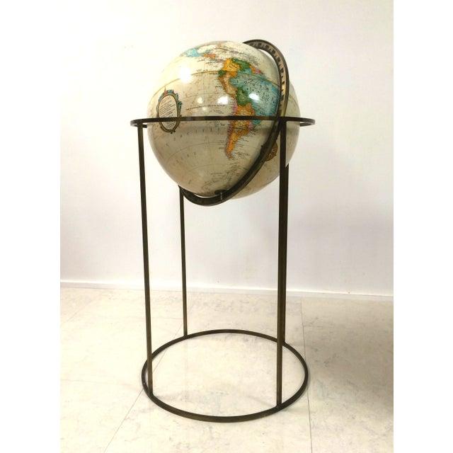 Vintage Paul McCobb Globe on Brass Stand - Image 5 of 6
