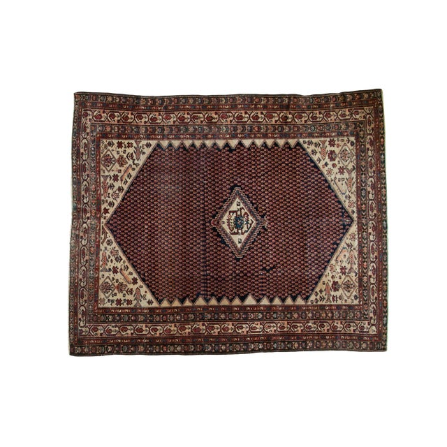 """Vintage Mission Malayer Square Rug - 5'5"""" x 6'7"""" - Image 1 of 10"""