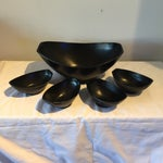 Image of Mid-Century Black Serving Set - Set of 5
