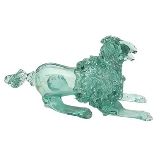 Italian Murano Art Glass Poodle Dog