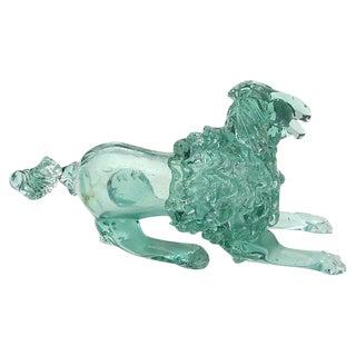 Italian Murano Art Glass Poodle Dog